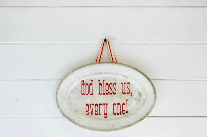 Antique Ironstone Plate with Christmas Message by Knick of Time | knickoftime.net
