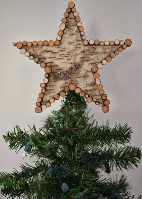 Birch Bark Star Christmas Tree Topper