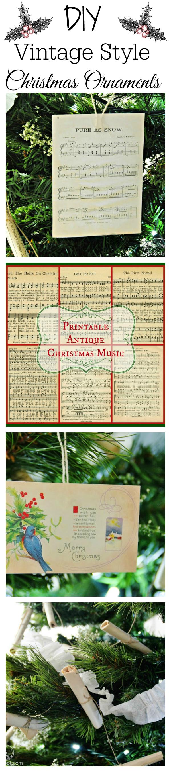 Vintage Style Christmas rree ornaments