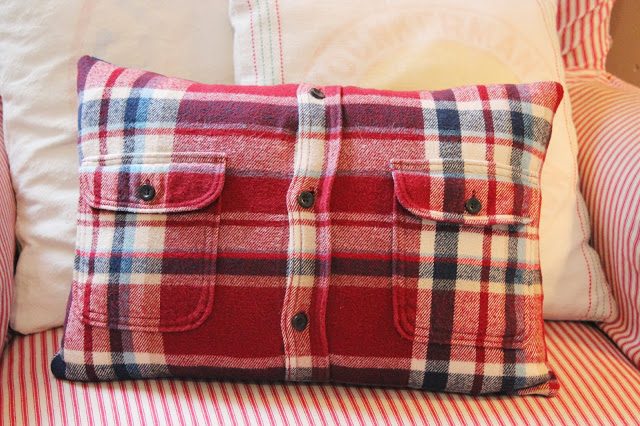 Flannel Shirt Pillow Cover