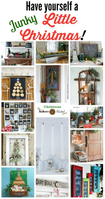 Turn salvaged junk into fantastic repurposed Christmas decor! - KnickofTime.net