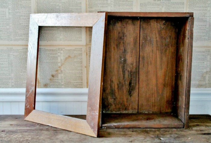Antique Crate into Farmhouse Cupboard by Knick of Time | knickoftime.net
