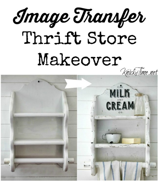How to image transfer on wood and transform a thrift store find - www.knickoftime.net
