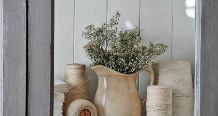 Ironstone Pitcher and Baby's Breath via Knick of Time
