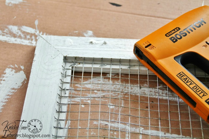 Putting wire mesh in a cabinet door | knickoftime.net