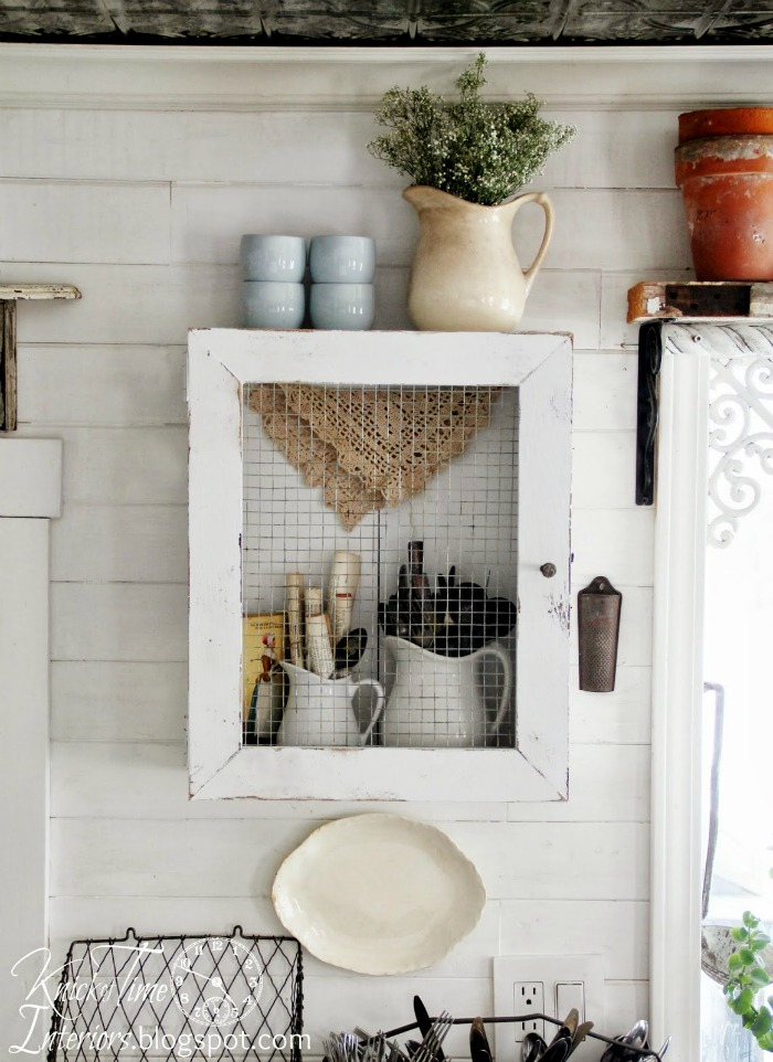 Repurposed Wooden Crate into Rustic Farmhouse Cupboard by Knick of Time| knickoftime.net