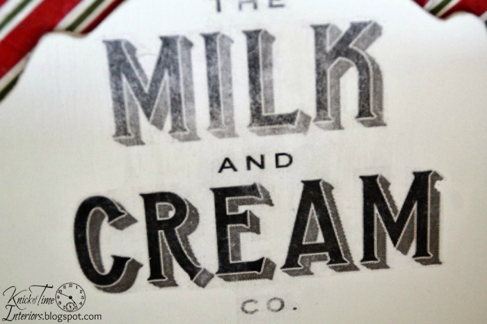The Milk and Cream Co. Graphic Image Transfer on Wooden Kitchen Shelf
