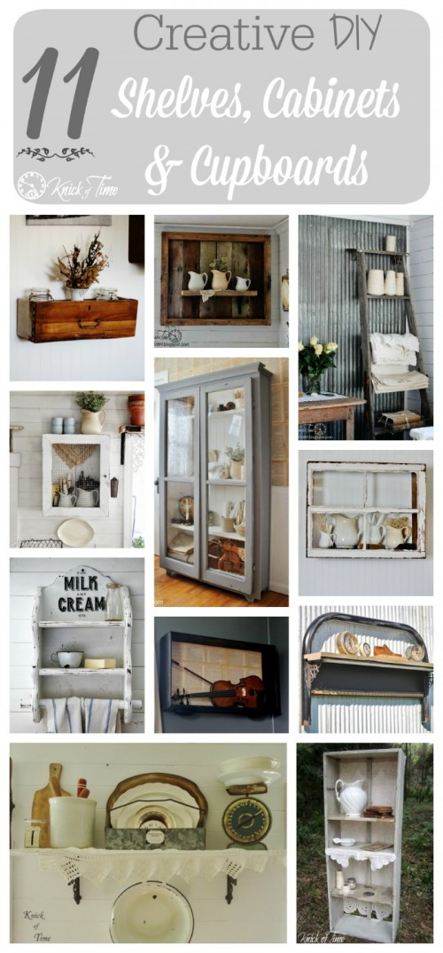Upcycled Shelves and Cabinets