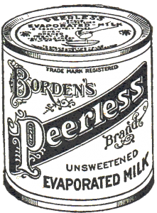Royalty Free Antique Advertisement – Borden's Milk