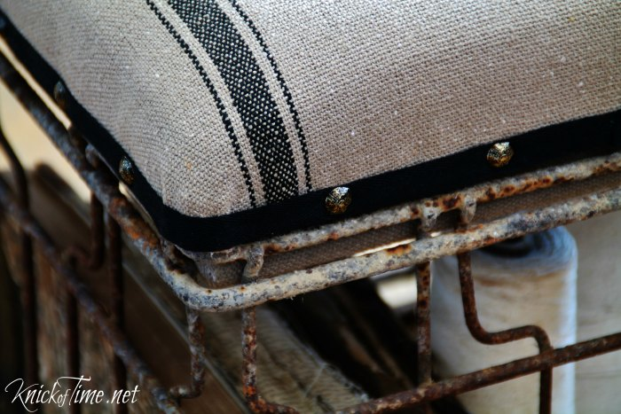 milk crate foot stool