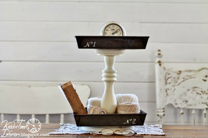 Repurposed Numbered Metal Tiered Stand by Knick of Time | knickoftime.net