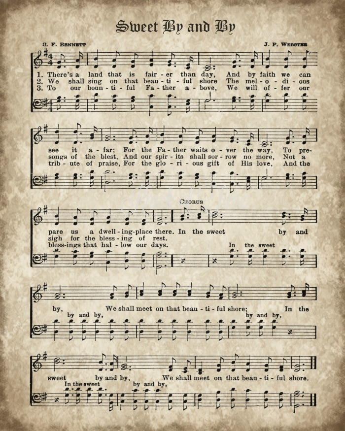 Sweet By and By Hymn Print Printable from Knick of Time