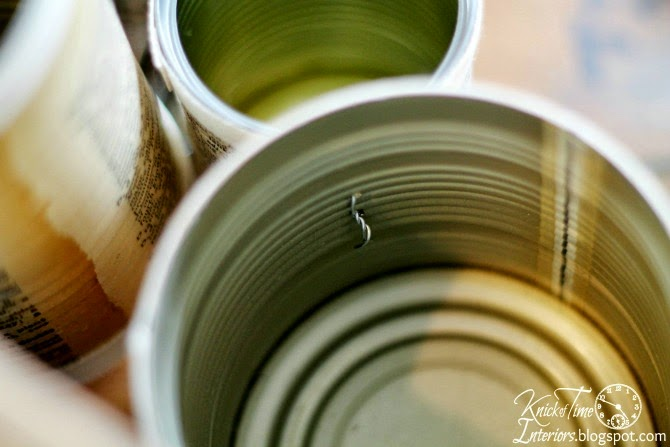 Recycled tin can organizer by Knick of Time   knickoftime.net