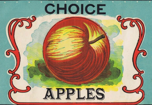 Choice apples antique fruit label printable - www.knickoftime.net