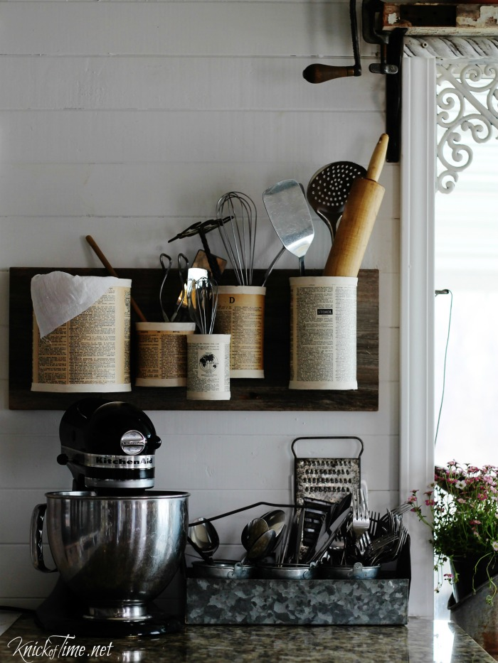 tin can organizer kitchen storage