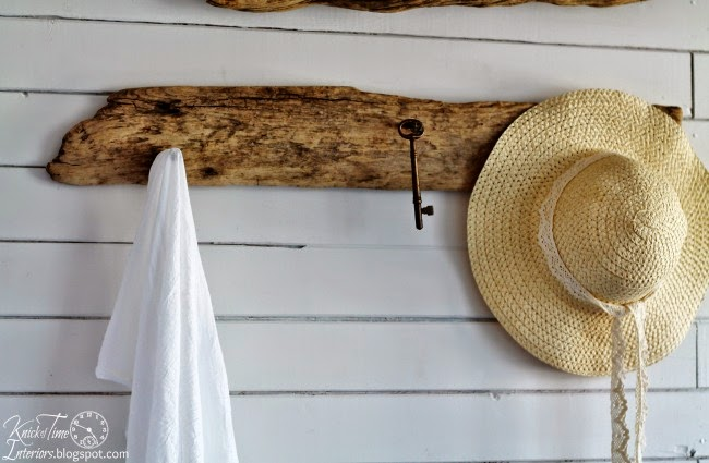 Drift Wood Wall Hooks in Guest House