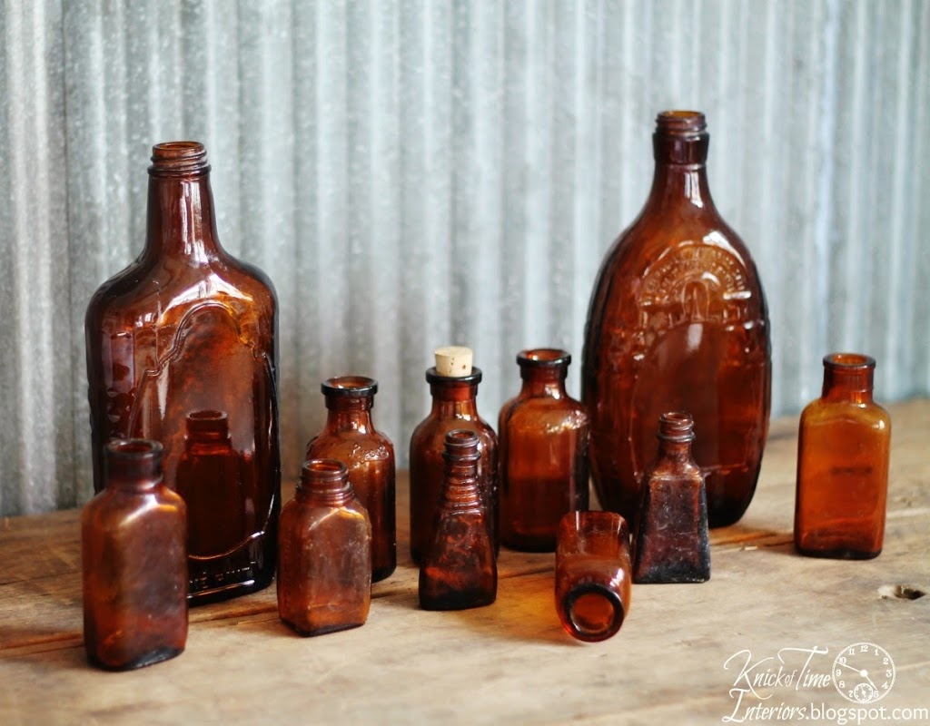 Apothecary Bottles via Knick of Time