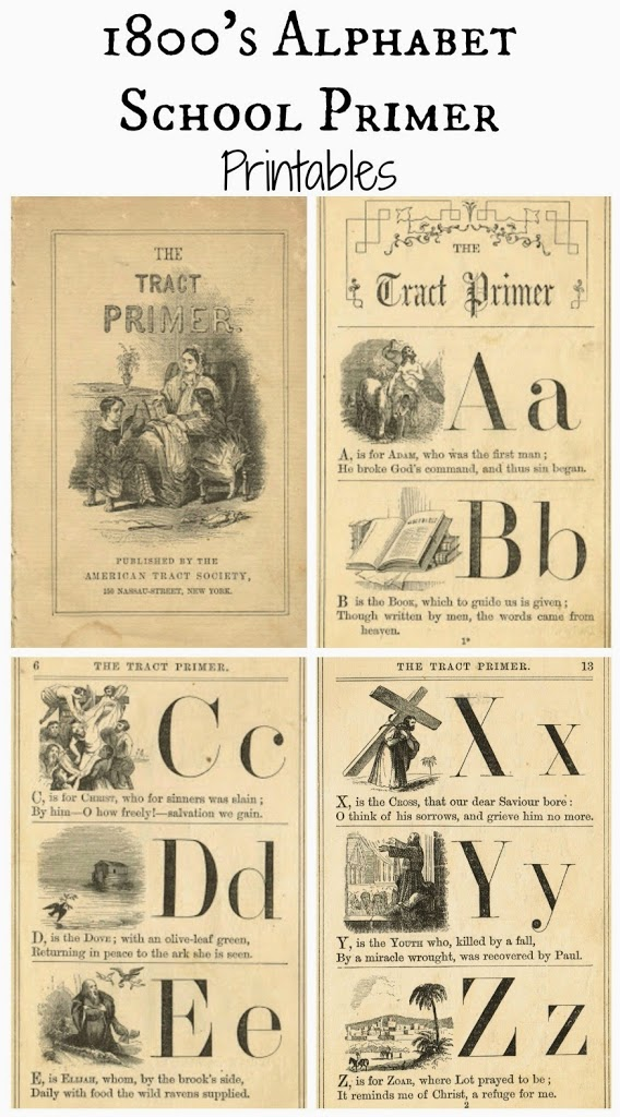 Antique Alphabet School Book