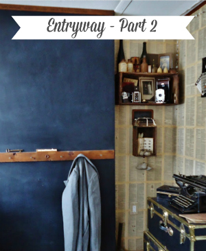Chalkboard Wall Entryway Makeover