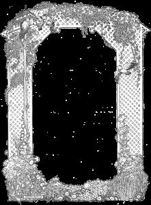 Garden Arbor Clip Art Frame