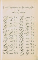 Antique Alphabet School Book Page Sign