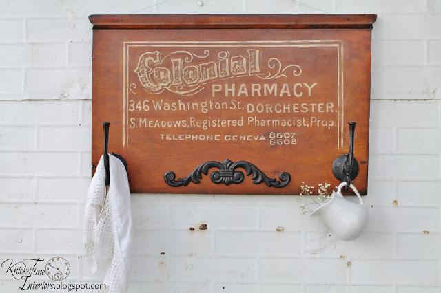 Pharmacy Sign on Salvaged Wood