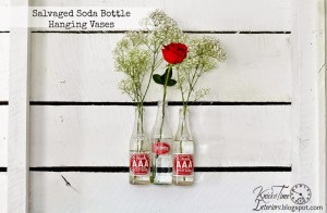 Repurposed Soda Bottle Flower Vases