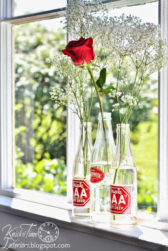 Repurposed Upcycled Bottles Flower Vases