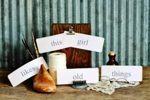 Antique Flash Card Printables