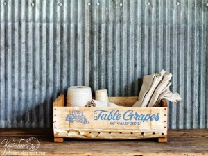 antique fruit crate