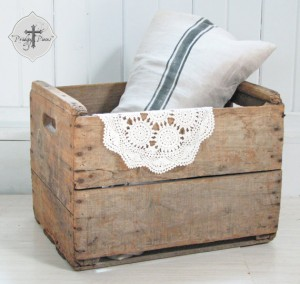 Antique Vintage Slat Wood Fruit Vegetable Crate ~ Farmhouse Style ~ Rustic Decor Goodness