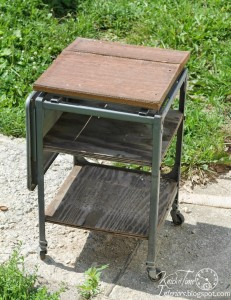 Typewriter Stand Gets an Industrial Rustic Makeover – Before and After