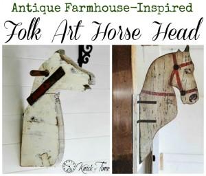Antique Farmhouse Inspired Horse Head Folk Art via Knick of Time