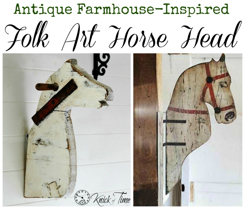 Antique Farmhouse Inspired Horse Head Folk Art via Knick of Time