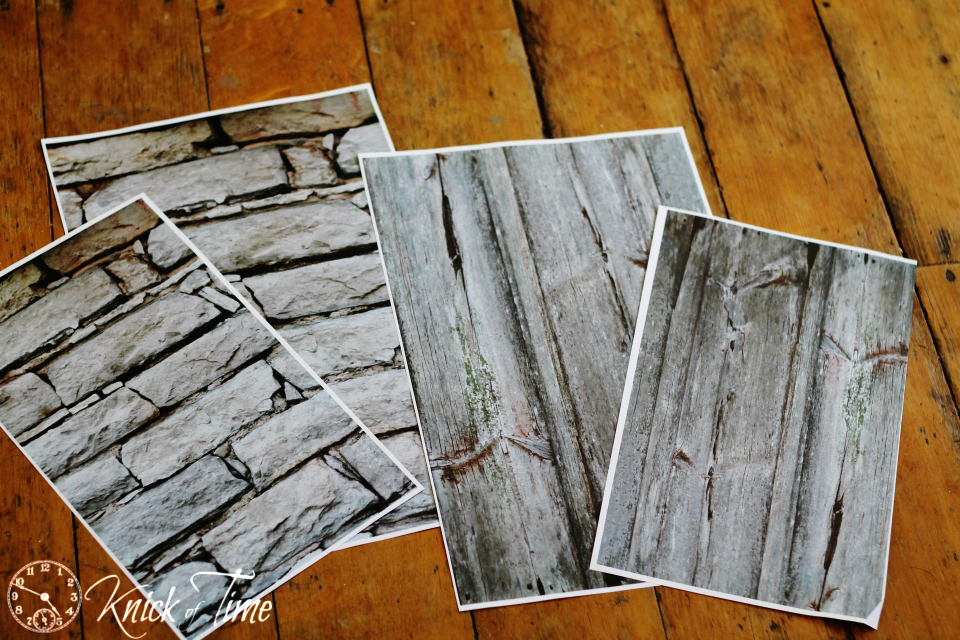 Barn Wood and Stone Wall Printables from Knick of Time