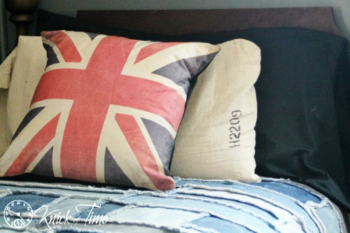 British and Grain Sack Pillow