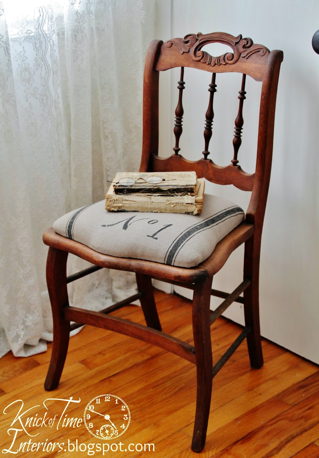 Decor Steals Grain Sack Chair by Knick of Time