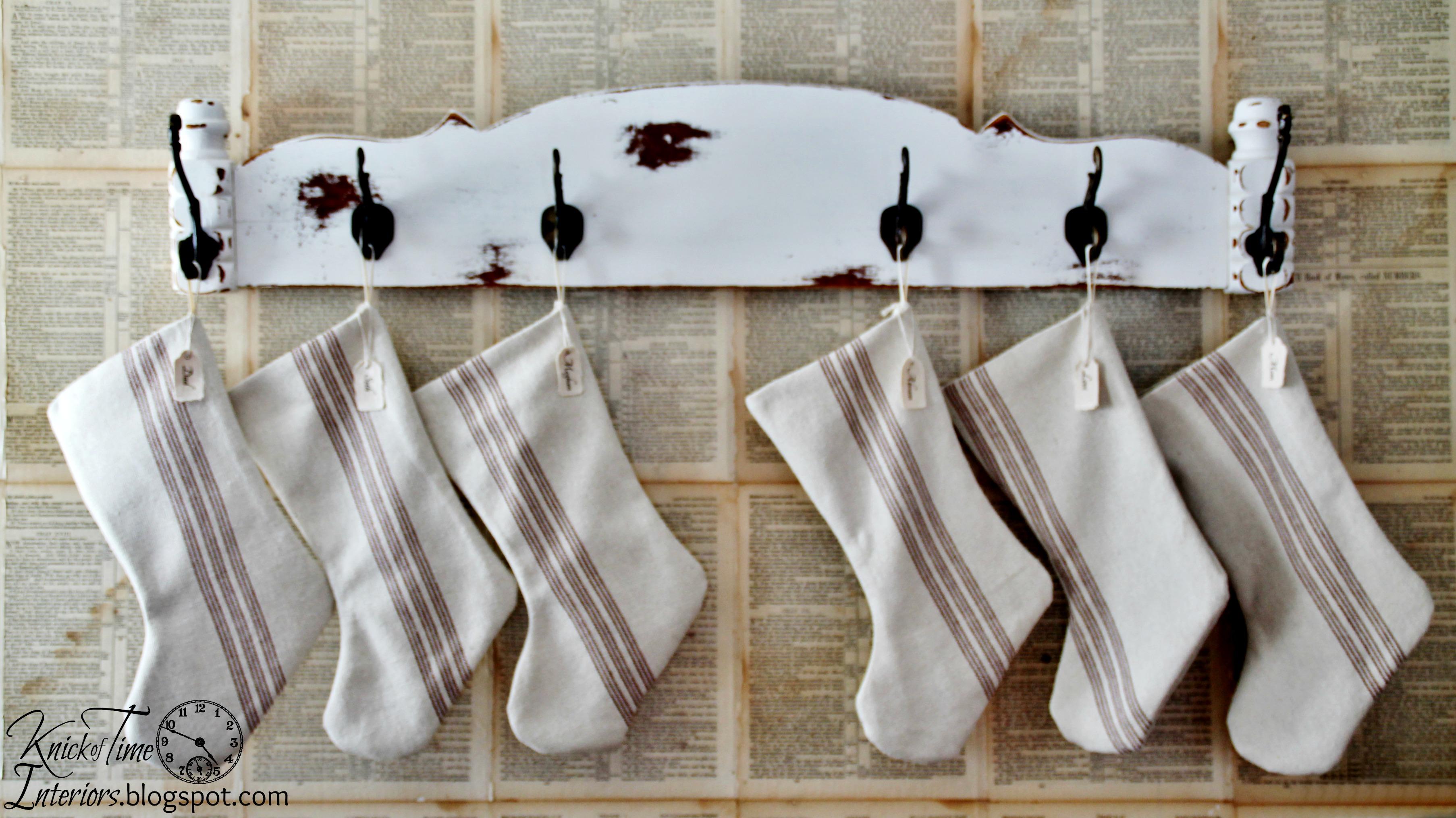 Grain Sack Christmas Stockings