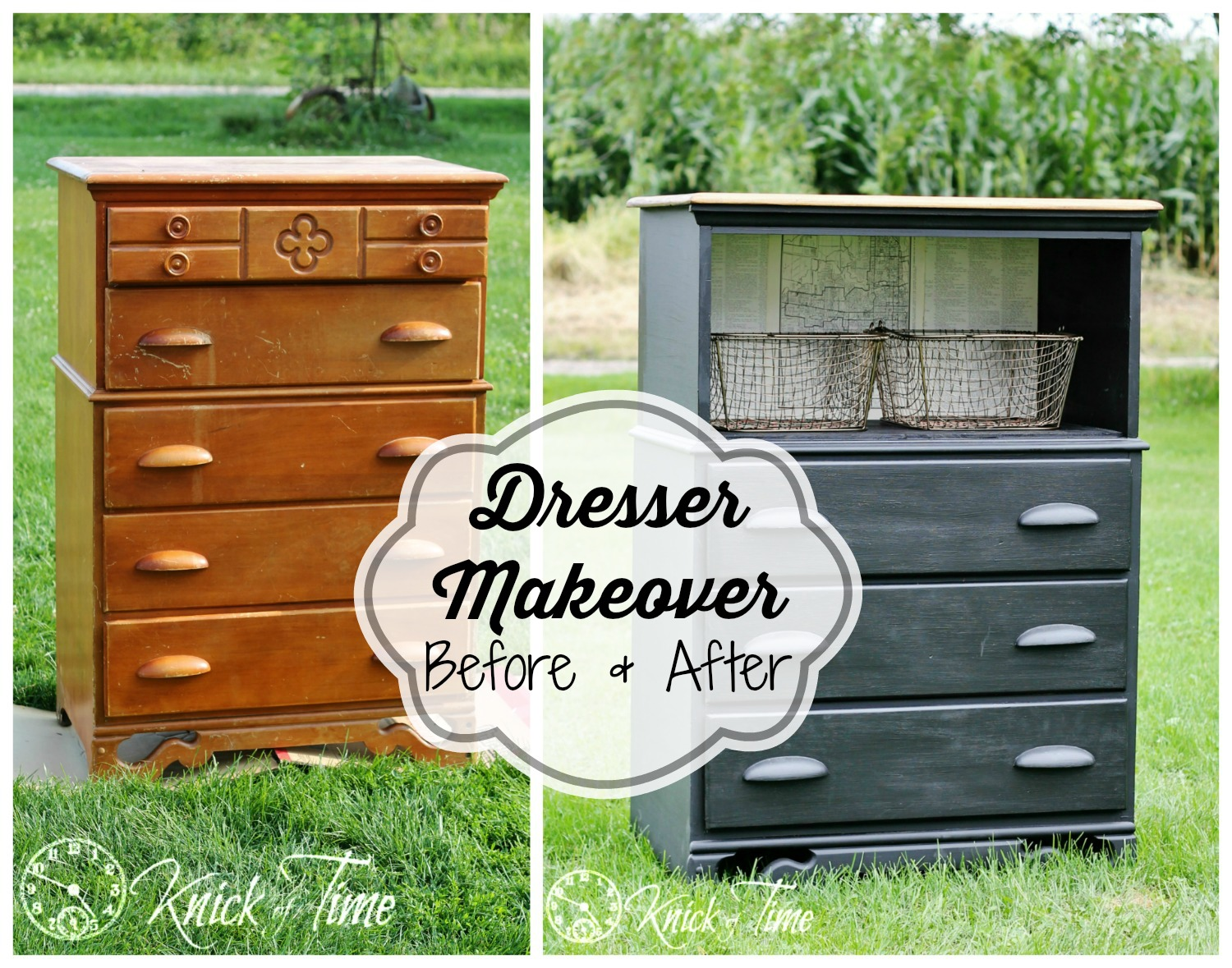 Painted Dresser Makeover via Knick of Time