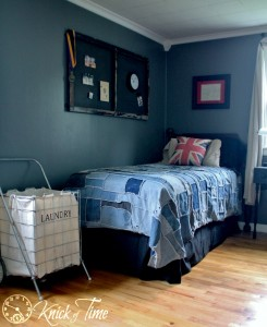 Teen Room Makeover Denim Blue Gray British Theme