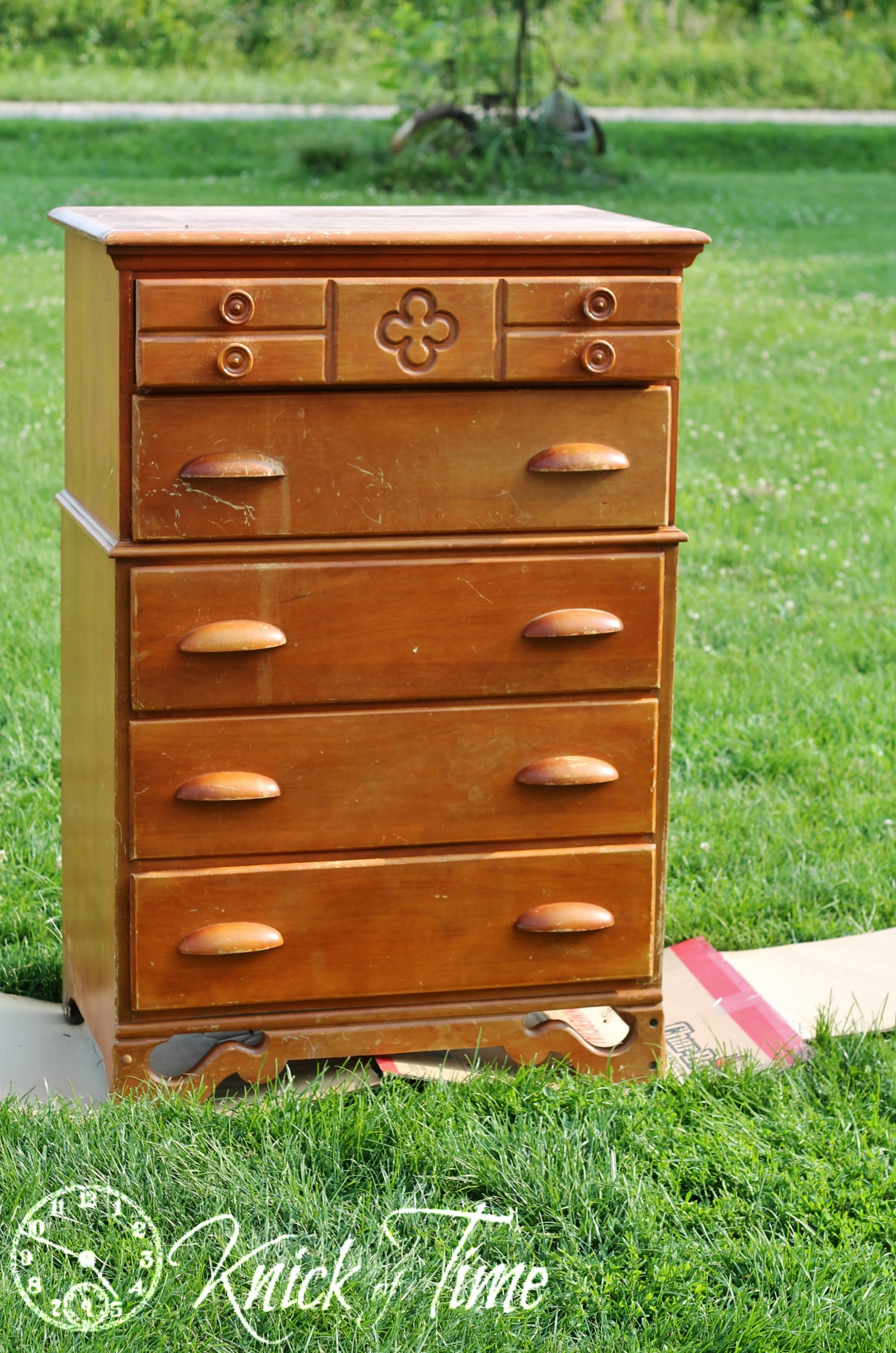 Upcycled Dresser before via Knick of Time
