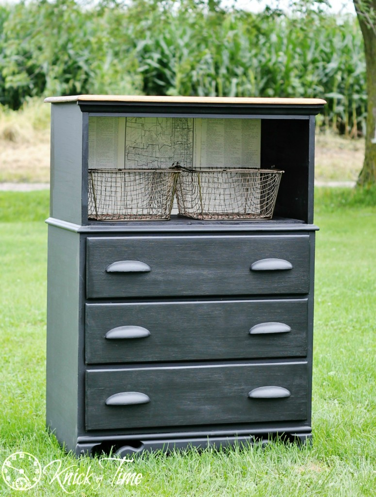 Upcycled Painted Dresser Makeover via Knick of Time