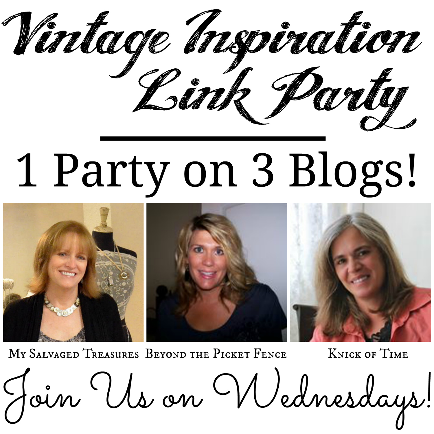 Vintage Inspiration Link Party Button 1500x1500