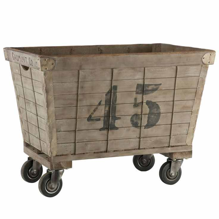 Diy Industrial Laundry Cart Knick Of Time