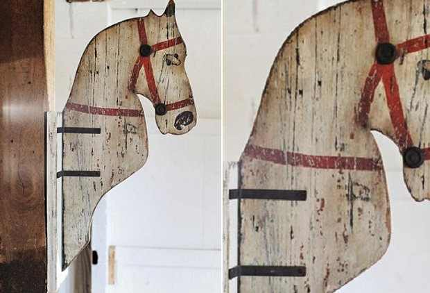 Antique Farmhouse Horse Head Mount