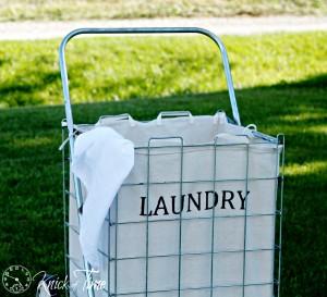 DIY Industrial Laundry Cart