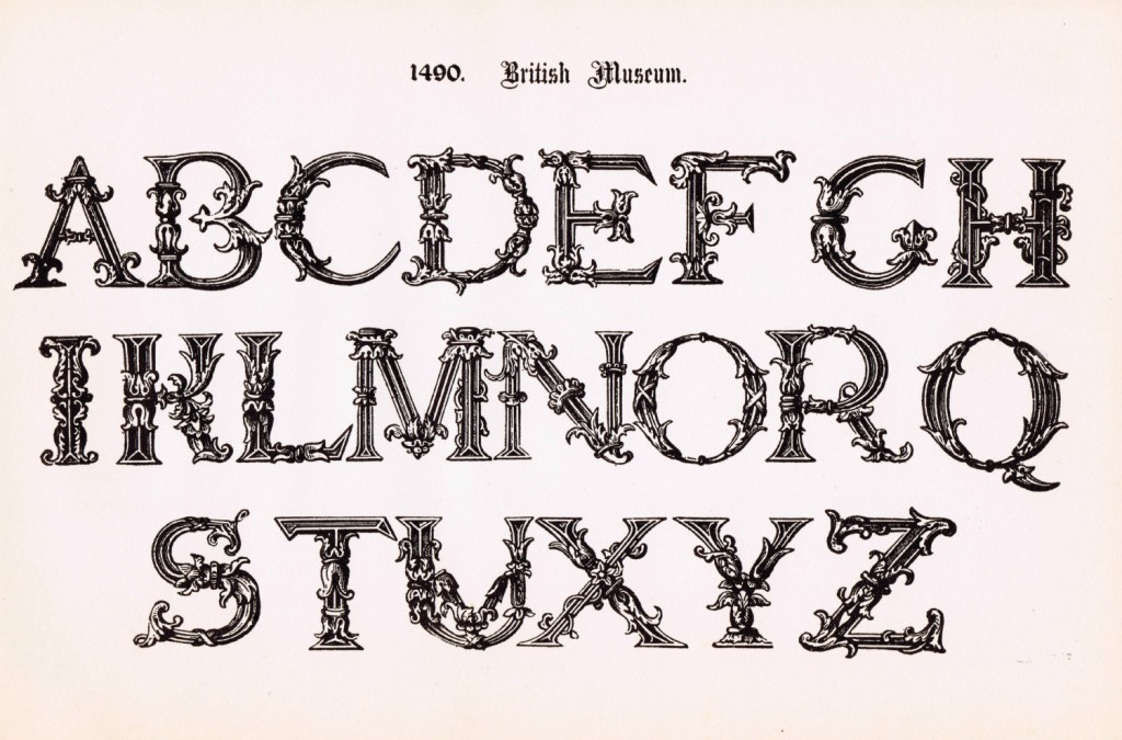 Antique Alphabet Fancy Font