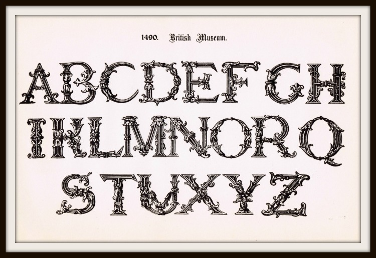 Antique Alphabet Font Ornate Font