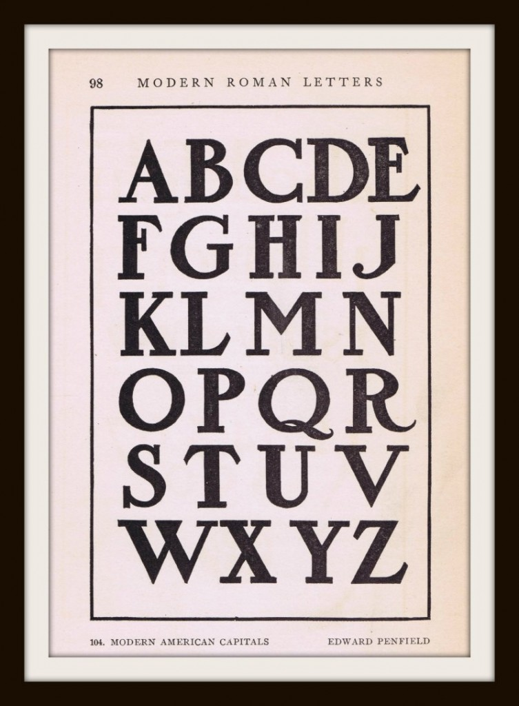 Antique Alphabet Font From Early 1900 S Knick Of Time