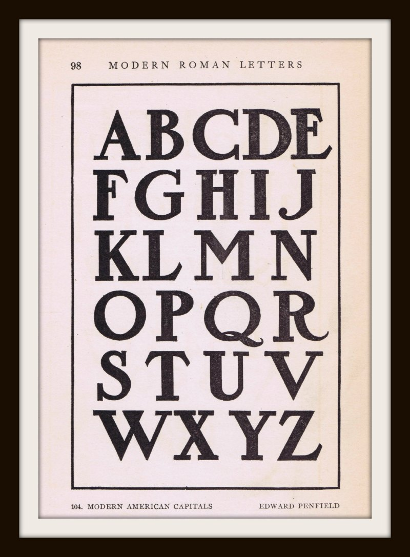 antique alphabet font from early 1900 u0026 39 s